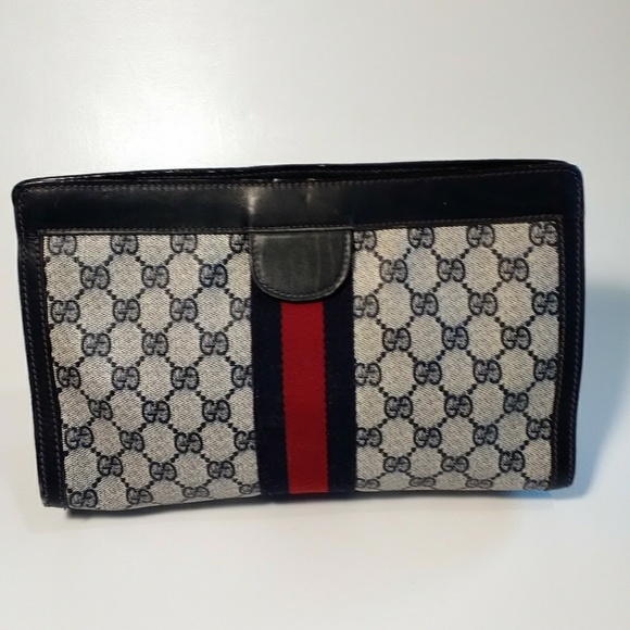Gucci Handbags - SOLD Gucci Vintage Cosmetic Bag Clutch